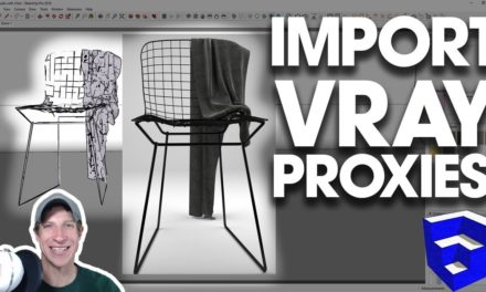 RESIZE AND POSITION VRAY MATERIALS in SketchUp - The